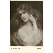 Early 1900's Postcard by E.W. Savory - Beautiful Women Series - 1 of 5