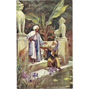 Raphael Tuck Oilette Postcard of Life in Morocco - Sacred Lilies