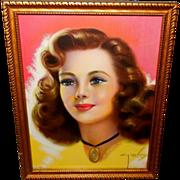 Billy DeVorss Pin Up Print of Beautiful Lady
