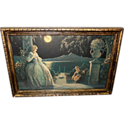Romantic Vintage Print of the Love Song