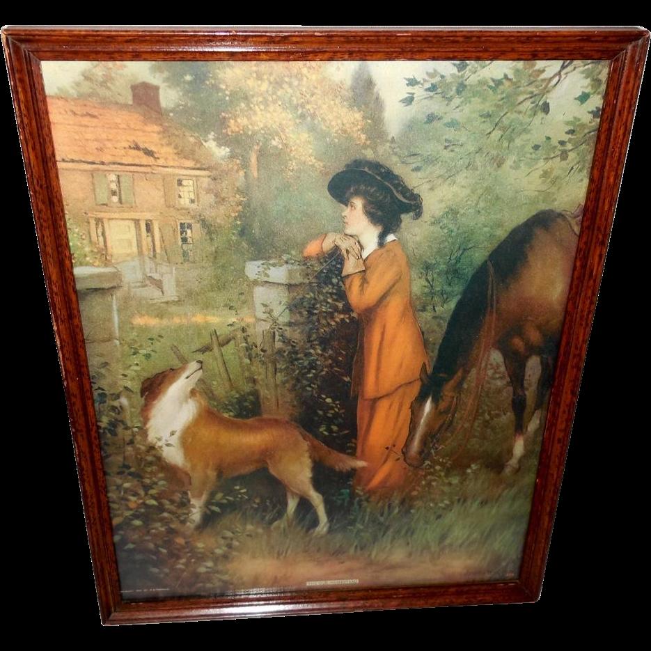 The Old Homestead Vintage Print By Joseph Warren 1912