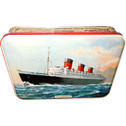 Bensons Cunard Souvenir Candy Tin with Four Ships
