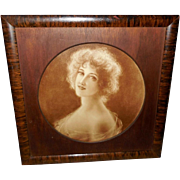 Cress Woollett Vintage Print of Lovely Lady