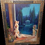 L. Goddard Vintage Art Deco Style Print of Garden of Golden Dreams