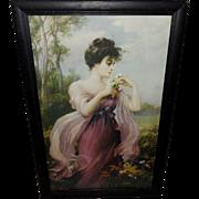 Zula Kenyon Vintage Print of Beautiful Lady - Heralds of Autumn
