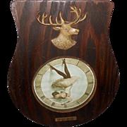Embellished 1901 Elk's BPOE Clock Shaped Print with Lady