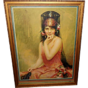 C. Bosseron Chambers 1926 Tintogravure of Beautiful Spanish Lady Named Juanita