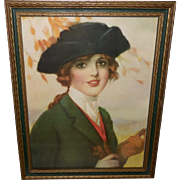 Frank Desch Vintage Print of Irma - Lovely Woman in Riding Outfit