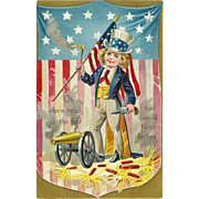 Raphael Tuck Embossed Patriotic Independence Day Postcard