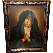Madonna in Sorrow Vintage Print by Salvi da Sassoferrato