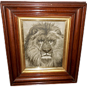 Rosa Bonheur Print of An Old Monarch - Lion King of Beasts
