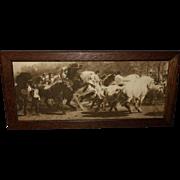Rosa Bonheur Sepia Print of the Horse Fair