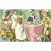 Mainzer Dressed Cats Postcard - Department Store Makeover