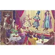 Mainzer Dressed Cats Postcard - Cats on Stage
