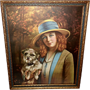 Adelaide Hiebel Peg O My Heart - Woman Holding Dog