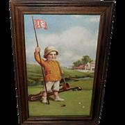 Zula Kenyon Vintage Print of Daddy's Caddie - Golf Course