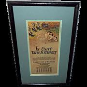 Milo Winter April 1928 Aesop Advertising Calendar of Dog with Skunks - 1 of 2