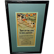 Milo Winter May 1928 Aesop Advertising Calendar of Two Dogs with Slipper - 2 of 2