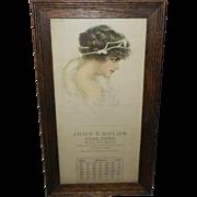 Pearle Fidler LeMunyan March 1914 Advertising Calendar for Coal Company