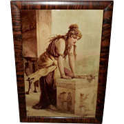 Diana Coomans Sepia Print of Classical Lady - Curved Glass