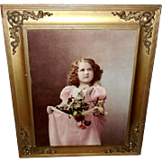 Ullman New York 1899 Photo Print of Girl with Flowers For Mama