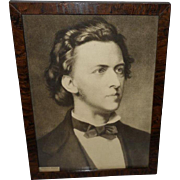 Vintage Portrait Print of Composer Frederic Chopin