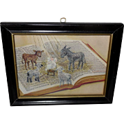 Small Biblical Print of the Nativity with Baby Jesus