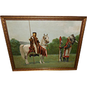 Hintermeister Chromolithograph of Arab Meeting Native American Indian