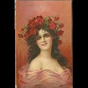 Raphael Tuck 1908 Postcard of Evelyn by Alfred Schwarz
