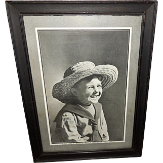 Vintage Photo Print of Young Boy with Big Smile