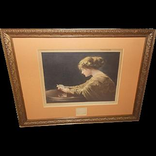 Petty Studio 1910 Tinted Photo of Woman