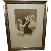 Gutmann & Gutmann Sepia Print of Father and Children Meta Grimball