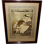 Jessie Willcox Smith Print of David Copperfield and Peggotty