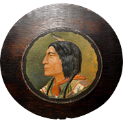 Embossed Print of Native American Indian Chief