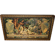 Maxfield Parrish Small Version of the Garden of Allah in Blue and Gold Frame