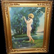 Bertram Basabe Nude Lady In the Dewy Morn