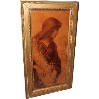 Henry Ryland Crystoleum Convex Sepia Print of Ruth