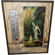 R. Atkinson Fox Advertising Thermometer with Music of the Waters
