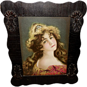 Chromolithograph of Beautiful Art Nouveau Style Woman - Hallen and Weiner