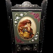 Eastlake Frame with Chromolithograph Under Embellished Matting