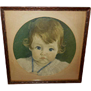 Maud Tousey Fangel Vintage Print of Young Child