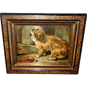 Sir Edwin Landseer Chromolithograph of Dog - No Place Like Home