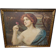 Abbey Altson Vintage Print of Helen - Red Haired Lady