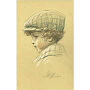 Henri Vincent Anglade Vintage Postcard of Young Boy