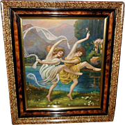 Disciples of Terpsichore Vintage Print in Eastlake Frame