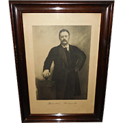 Photogravure of President Theodore Roosevelt Copyright 1907