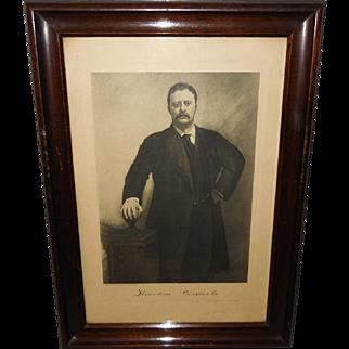 Photogravure of President Theodore Roosevelt Copyright 1907