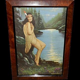 R. Atkinson Fox Calendar Print of Indian Maiden - Pride of the Blue Ridge