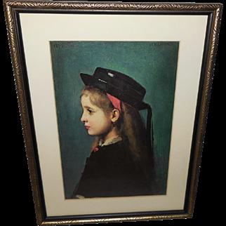 The Alsatian Girl Vintage Print by J.J. Henner