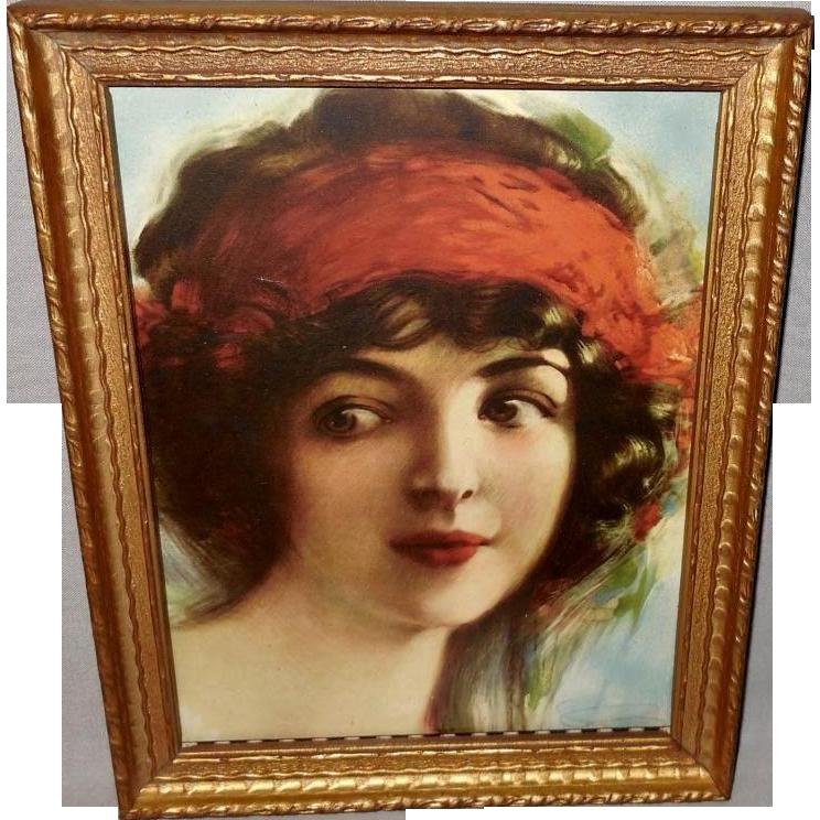Vintage Sheet Music of Beautiful Dark Haired Woman